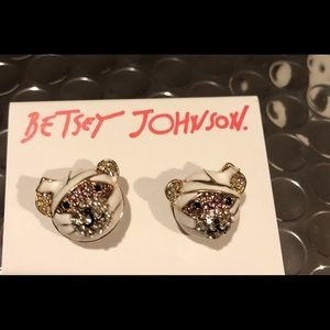 Betsey Johnson Mummy Bear Stud Earrings NWT